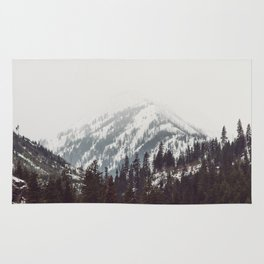Storm in the Mountain Forest - Nature Photography Rug