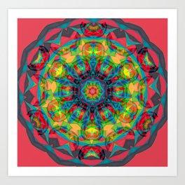 Fruit and Charcoal Bliss Circle Art Print