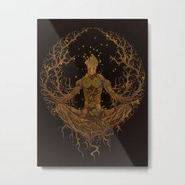 Groot Mandala Metal Print