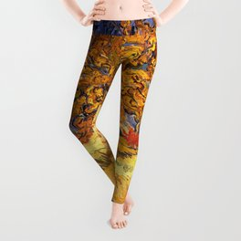 The Mulberry Tree by Vincent van Gogh Leggings