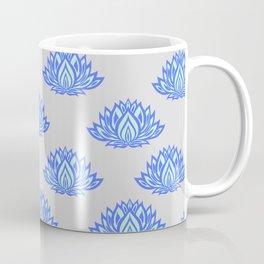 Lotus Pattern Grey Coffee Mug