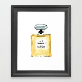 Yellow Parfum Framed Art Print
