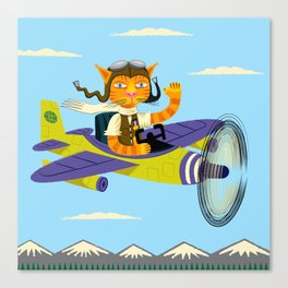 Tibbles Learns To Fly Canvas Print