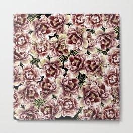 Vintage Flowers At Night #society6 Metal Print
