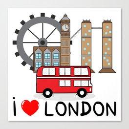I love London Canvas Print