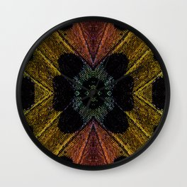 Butterfly Garden Vortex Wall Clock