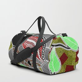 Authentic Aboriginal Art - Barramundi Duffle Bag
