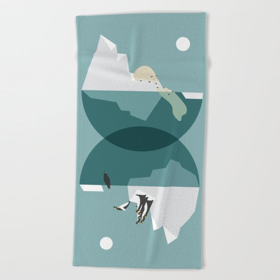 North and south Beach Towel