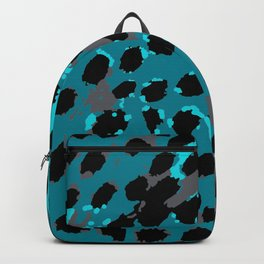 Cheetah Spots in Blues and Gray Grey Backpack