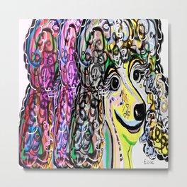 Poodle Color Transition Metal Print