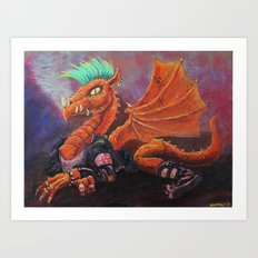 Anarchist Dragon Art Print