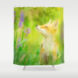 Enchanted Fox Shower Curtain