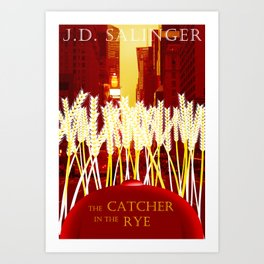 Holden, the Rye, and NYC Art Print