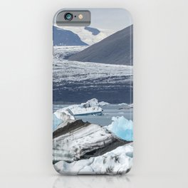 Glacier receding at Jokulsarlon iPhone Case
