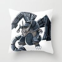 charizard Throw Pillows featuring Meta Charizard by VictorVieitez
