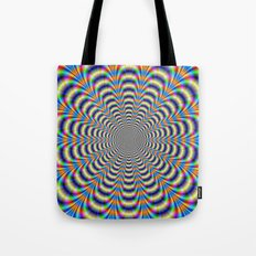 Rosette in Yellow and Blue Tote Bag
