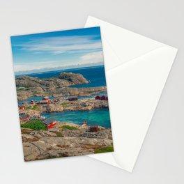 Sleepy Coastal Village Photo Stationery Cards