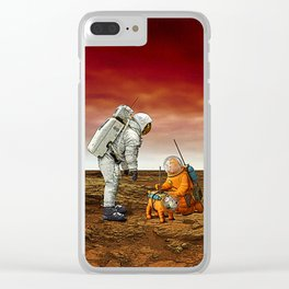 Astronauts Clear iPhone Case
