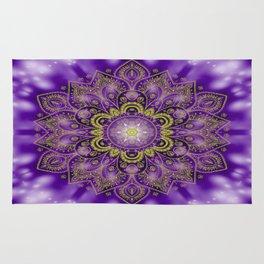 Mandala of Lights on Purple Rug