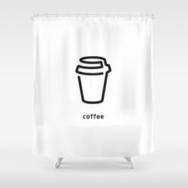 Coffee Cup Vector Shower Curtain