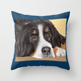 Bernese Mountain Dog Throw Pillow