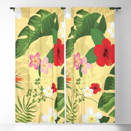 Tropical Flower Background 2 Blackout Curtain