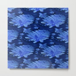 Chicory in blue.... Metal Print