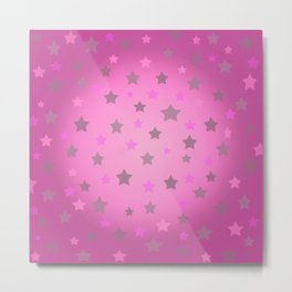 Pink star scene  Metal Print