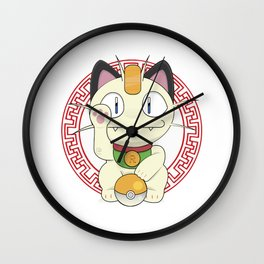 Maneki - Meowth Wall Clock