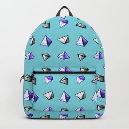 Blue Geometric Watercolor Pyramid Pattern Backpack