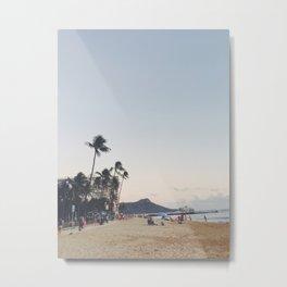 Hawaii Beach Mountain Metal Print