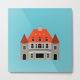 Pittock House Pop Art - Portland, Oregon Metal Print