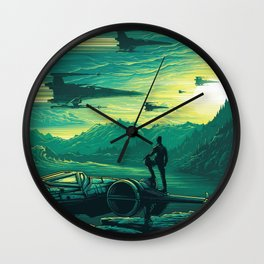 The Force Awakens Alternative Poster design Wall Clock
