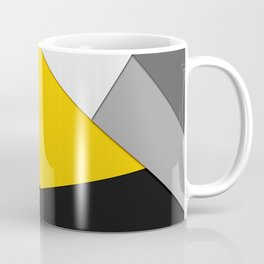 Simple Modern Gray Yellow and Black Geometric Coffee Mug