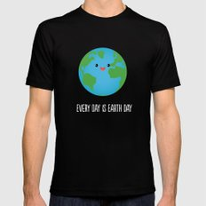 Every Day is Earth Day Mens Fitted Tee Black MEDIUM