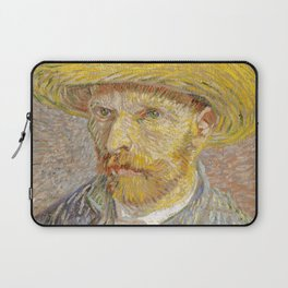 Self Portrait with Straw Hat by Vincent Van Gogh Laptop Sleeve