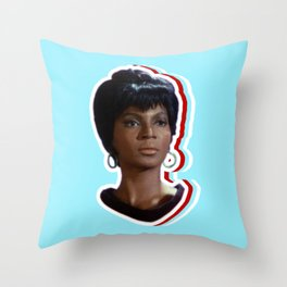 Nyota Uhura: Queen of Space Throw Pillow