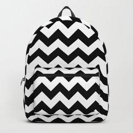 Black and White Chevron Print Backpack