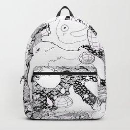 Ghibli-Inspired Collage Backpack