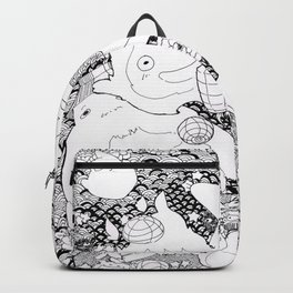 Ghibli-Inspired Collage Backpack