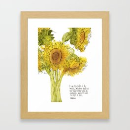 Light of the World - Sunflowers Framed Art Print