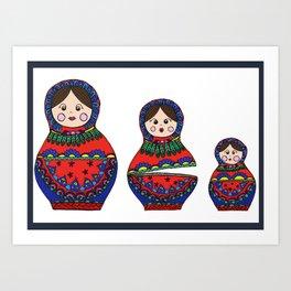 POP MATRYOSHKA Art Print