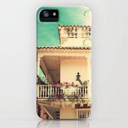 Colourful Summer Old House (Retro and Vintage Urban, architecture photography) iPhone Case