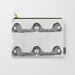 Minimal Line Art Funny Girls Carry-All Pouch