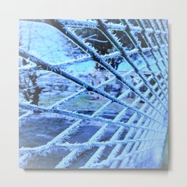 white frost Metal Print