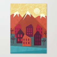 mountains Canvas Prints featuring Mountains by Kakel