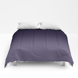 Ombre Ultra Violet Dark Purple Comforters