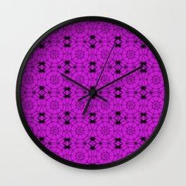Dazzling Violet Pinwheels Wall Clock