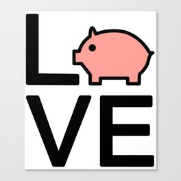 Love Pigs Very Cute And Funny Love Gift Idea Canvas Print