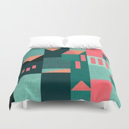 Teal Klee houses Duvet Cover